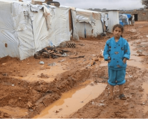Winter in Syrian camps